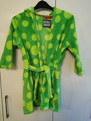 Boys Green Monster Dressing Gown 6-7 Yrs Great Condition