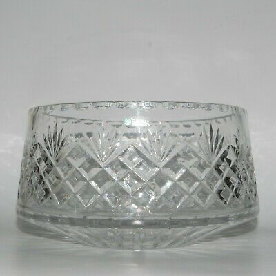 """Galway Irish crystal bowl 8"""" across w/ label Pre-Owned"""
