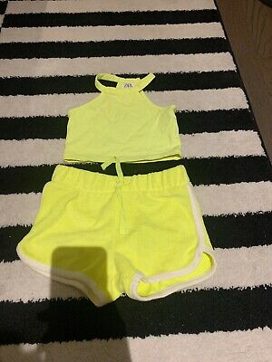 Zara Girls Age 5 Shorts And Top Outfit