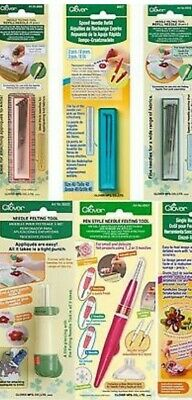 Clover Needle Felting Tools,Pens And Refill Needles For Patches Motifs Appliques
