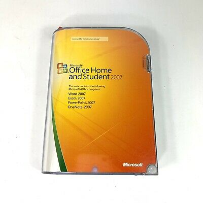 Microsoft Office Home and Student 2007 w/CD, Product Key & Case