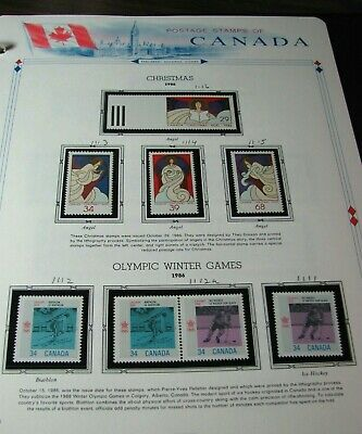Canada Stamp Scott# 1111-1116 Christmas, Olympic Winter Games 1986  MNH L330