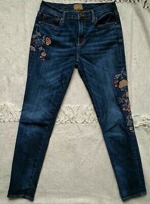Driftwood Women/'s Jackie Embroidered Copper Foliage Jeans P40014A
