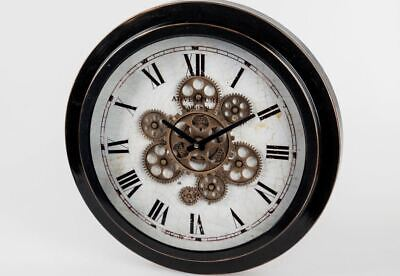 676085 Wall Clock Antique 46x7cm from Matt, Antik-Braunem Metal Cream Dial Face