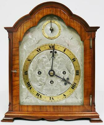 Stunning Antique English Walnut Triple Fusee 5 Gong Musical Chime Bracket Clock