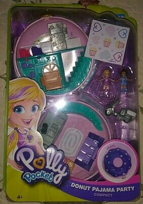 Collectibles Polly Pocket Donut Pajama Party Compact Playsets Christmas Fun Gift