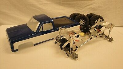 Vintage 1/10 Scale R/C 4X4 Chevy Monster Or Pull Truck Project, Aluminum Chassis