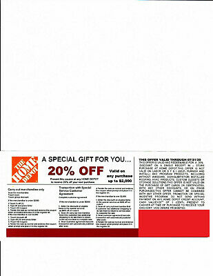 1 20% OFF HOME DEPOT Competitors  Coupon at Lowe's Expires 7/31/20
