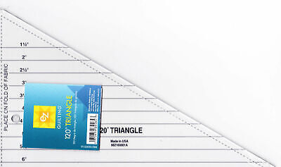 Ez Simplicity 120 Degree Triangle - Acrylic Template Ruler - Patchwork Quilting