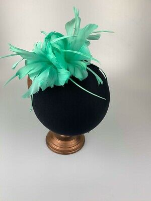 Mint Green Feather Fascinator Ladies Fascinators Wedding Guest Race Day Fashion