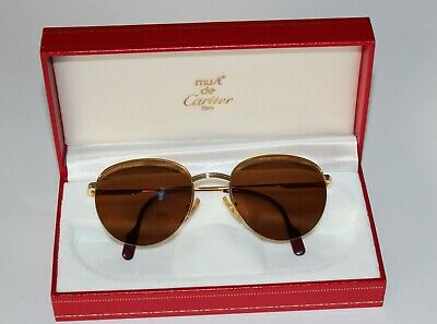 Vintage CARTIER Sonnenbrille Mod. COLISEE - Semi Rimless Collection 90er