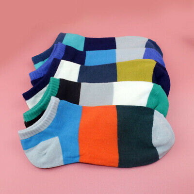 1 Pairs Men's Casual Boat Socks Ankle Shallow Mouth Short Sports Low Cut Socks#