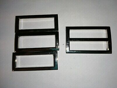Silver metal sliders x 4.  1.5 inches