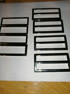 Silver metal sliders x 8.  2 inches