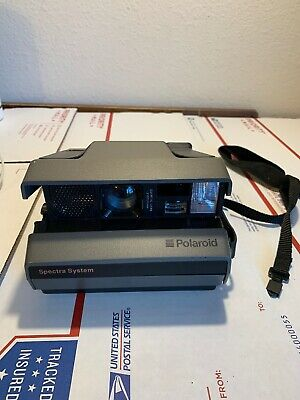 Instant Polaroid Spectra Film Camera System Film Tested WORKING With strap