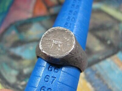 ANCIENT  SILVER LEGIONARY RING Roman Empire Divus Augustus 36-37 AD - RIC 68