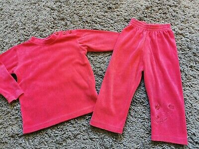 Girls Fuscia Pink Pampolina Outfit Size 80 (approx 12 months) Exc Cond