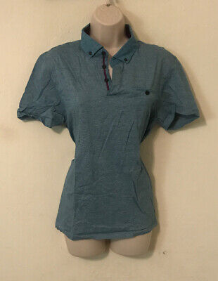 Womans Polo Shirt Size 5 By Ted Baker Blue Purple