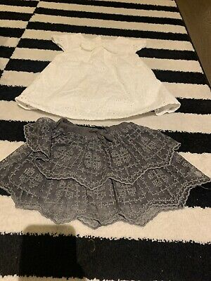 Girls Age 2/3 Summer Skirt And Top Set - Zara/Next