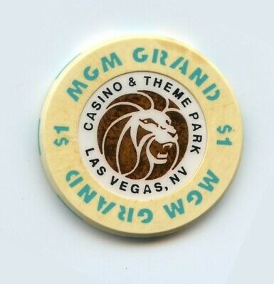 1.00 Chip from the MGM Grand Casino in Las Vegas Theme Park