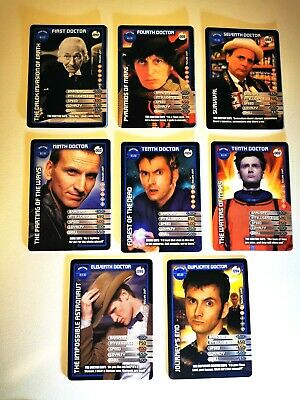 8 x Doctor Who Trading Cards (8 Different DOCTOR Cards) Dr Who Monster Invasion