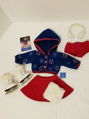 American Girl Molly Skating outfit and Skates and Muff