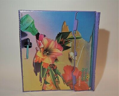 Vintage 1992 Mead Trapper Keeper 3 Ring Notebook Watercolors Tropical Flowers
