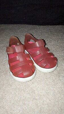 Infant Girls Pink Igor Jelly Shoes Size 4