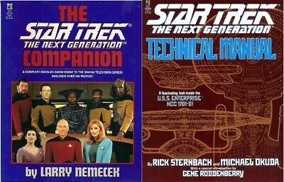 STAR TREK: The Next Generation 1992 *COMPANION BOOK* and *TECHNICAL MANUAL*