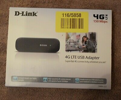 D-Link DWM-222 Ultra-Fast 4G LTE EE locked 150Mbps Mobile WI-Fi USB Dongle Used