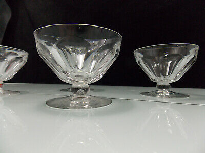 Lot 13 - Baccarat- 4 Coupes A Champagne Du Service Talleyrand- H 7.5 Cms