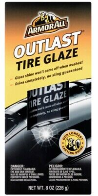 Brand New Armor All Outlast Tire Glaze Synthetic Bond to Rubber Surface - 8 oz