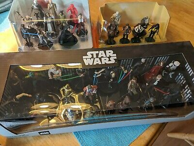 NEW Deluxe Star Wars Mega Figurine Collection Lot Disney Store SEALED FREE SHIP