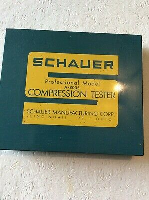 Schauer Professional Mode A8035 Compression Tester Kit In Metal Box