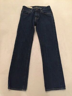 Abercrombie & Fitch Men's REMSEN Low Rise Slim Straight Denim Jeans Sz 28 x 30
