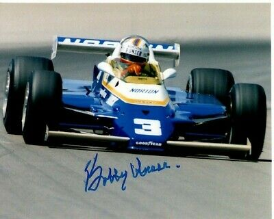 BOBBY UNSER Signed Autographed INDY Photo