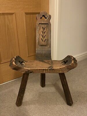 Beautiful 19th Century Pitch Pine European Spinning Stool