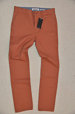 New Quiksilver Boys Straight Pants Trouser Chinos Burnt Sienna EQBNP03038 14 Yrs