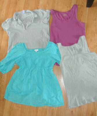Bundle Lot 4 Maternity Tops Tanks Peasant Old Navy Liz Lange Gap Polo XL Ribbed