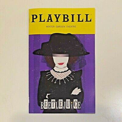 Beetlejuice Special Edition Lydia Playbill - January 2020 - Winter Garden