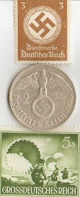 """#8-F)-*free WW2- *german"""" PW""""-Solder card in FRANCE camp+""""SS""""-Paratroopers-stamp"""