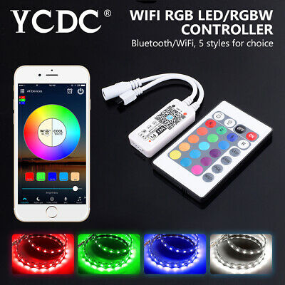 mini bluetooth/wifi led controller rgb/rgbw strip lights by smart phone app 6D8