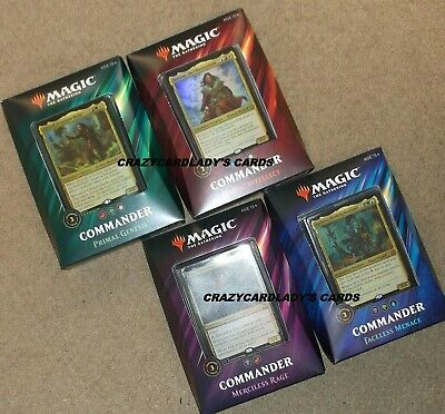 Magic The Gathering 2019 Commander Deck Set Box Free Same Day Priority Shipping