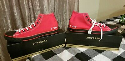 Mens Converse All Star Chuck Taylor Red Canvas Sneakers Size 14 Nice