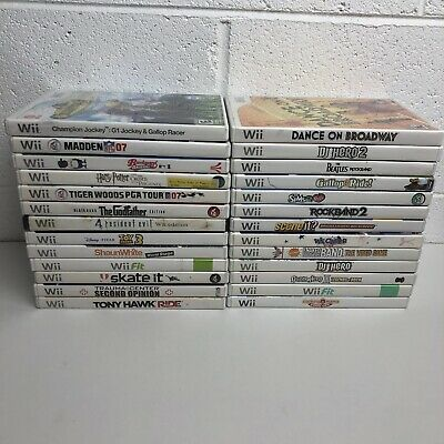 Nintendo Wii HUGE Lot of 26 Games - All Tested & Complete