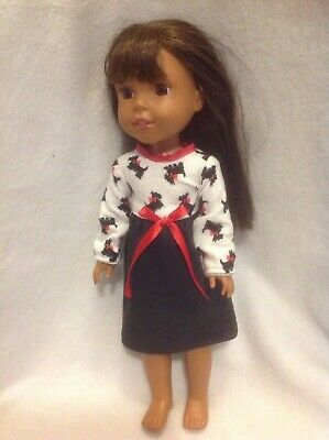 CUSTOM for Wellie Wishers AG 14.5 in doll garden veggies Dress American girl