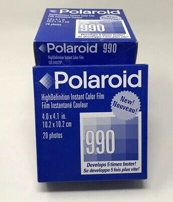 Lot 4 Pack 360 Shots New Sealed Polaroid 990 High Definition Instant Color Film