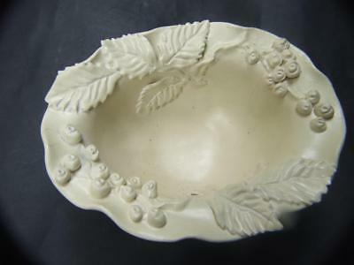 Castle Harris Australian Pottery Footed  Bowl Leaves & Berries Signed Estate