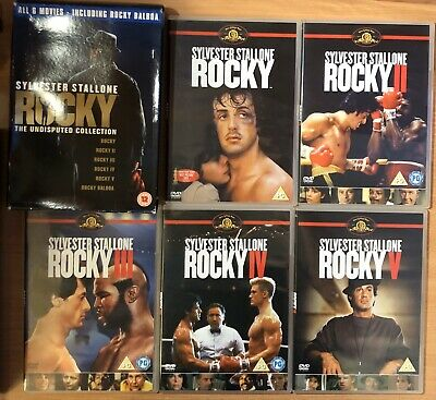 Sylvester Stallone Rocky The Undisputed Collection 2007 5x DVD Used Condition.