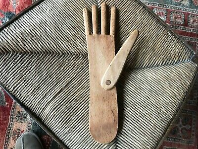 Treen vintage glove stretcher / blocker